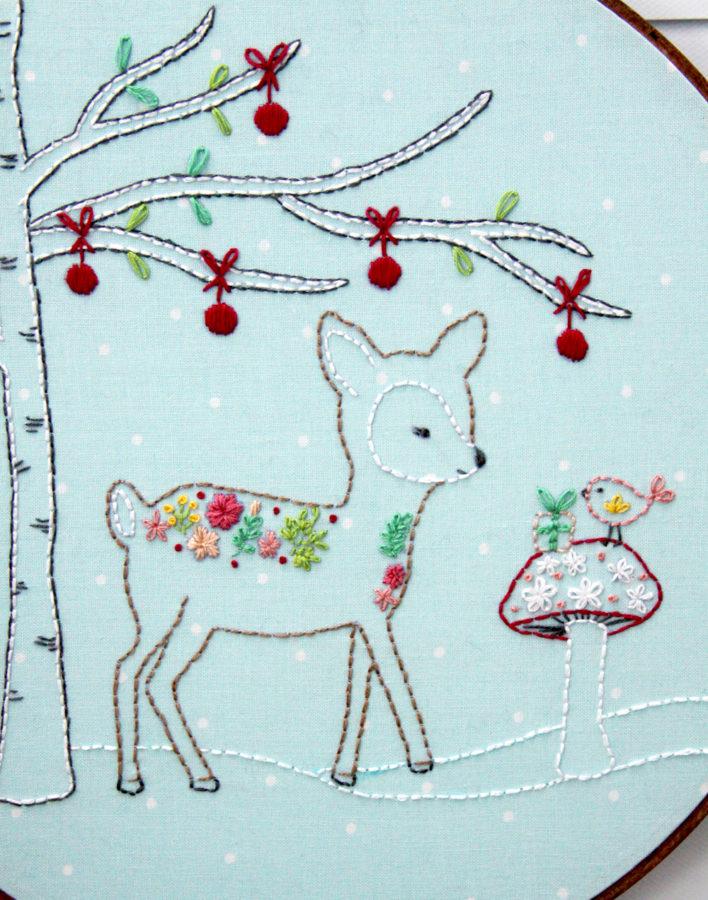 Christmas-deer-embroidery-hoop-art