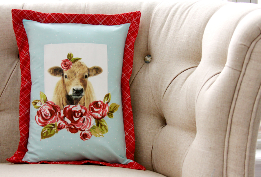 Colorful DIY Farmhouse Pillow
