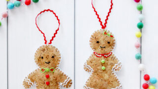 Embroidered Cork Gingerbread Ornaments