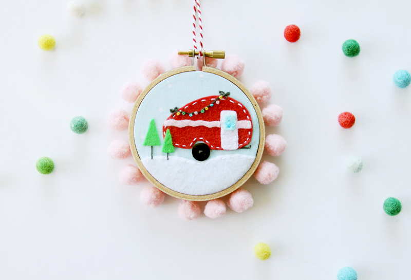Camper Hoop Ornament