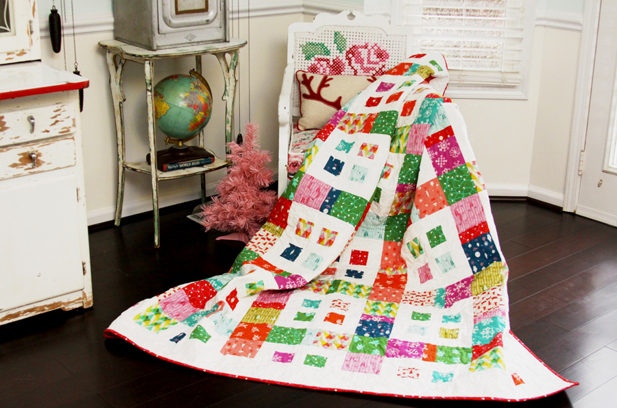 Colorful Christmas Quilt