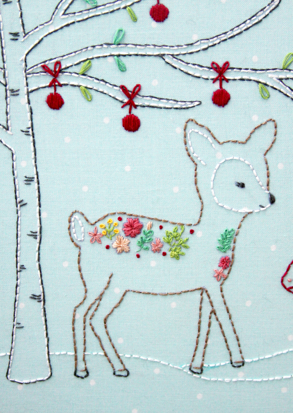 Woodland Winter Christmas Embroidery Pattern