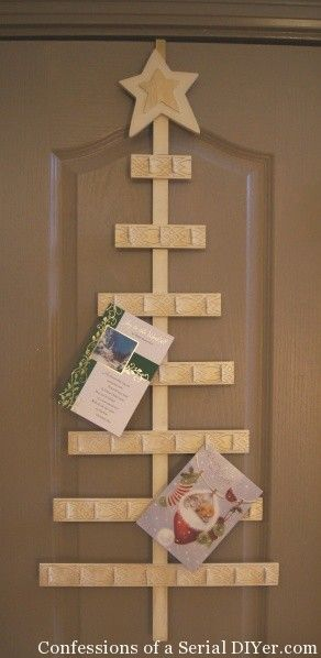 this wooden christmas tree card holder has clothespins to clip the cards on and a hook so you can slip the holder onto a door i also like the free standing - Photo Holder Christmas Cards
