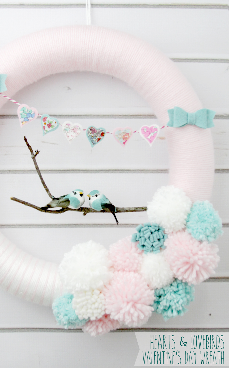 lovebirds Valentine's diy wreath