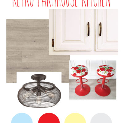 Transforming a Dark Kitchen to a Retro Farmhouse Kitchen