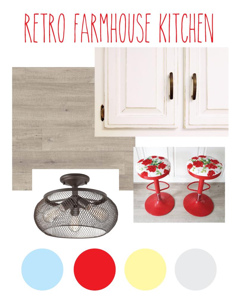 Transforming a Dark Kitchen to a Retro Farmhouse Kitchen