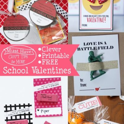 Must Have Craft Tips – Printable School Valentines