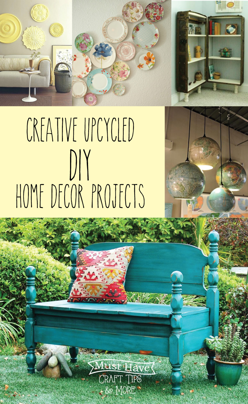 Ordinary Upcycled Home Decor Ideas Part - 11: This Week Iu0027m Sharing Some Fun Tips For Upcycling In Home Decor U2013 With Ideas  For Furniture, Wall Decor, Pillows And More!