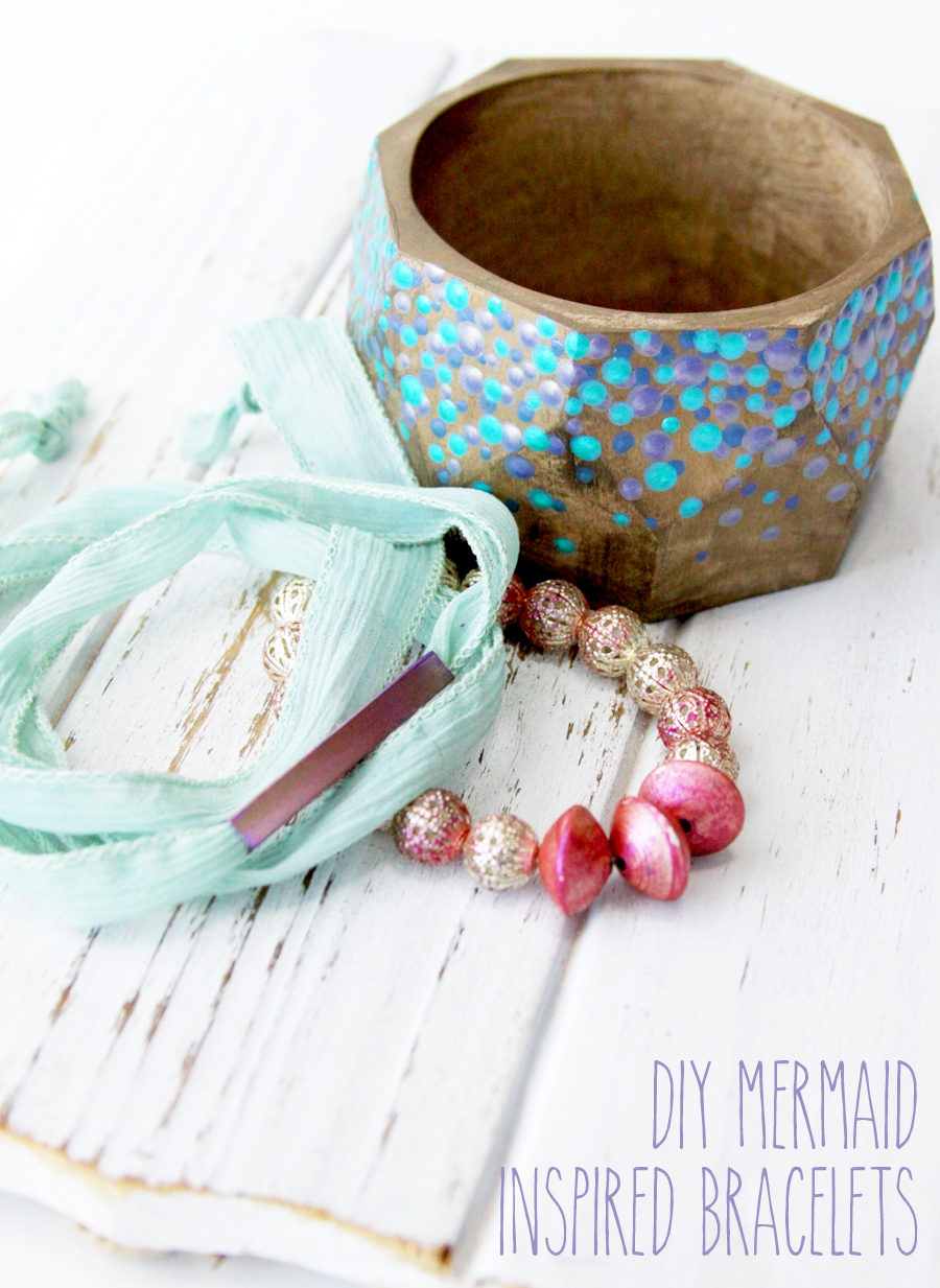 DIY Mermaid Inspired Bracelets