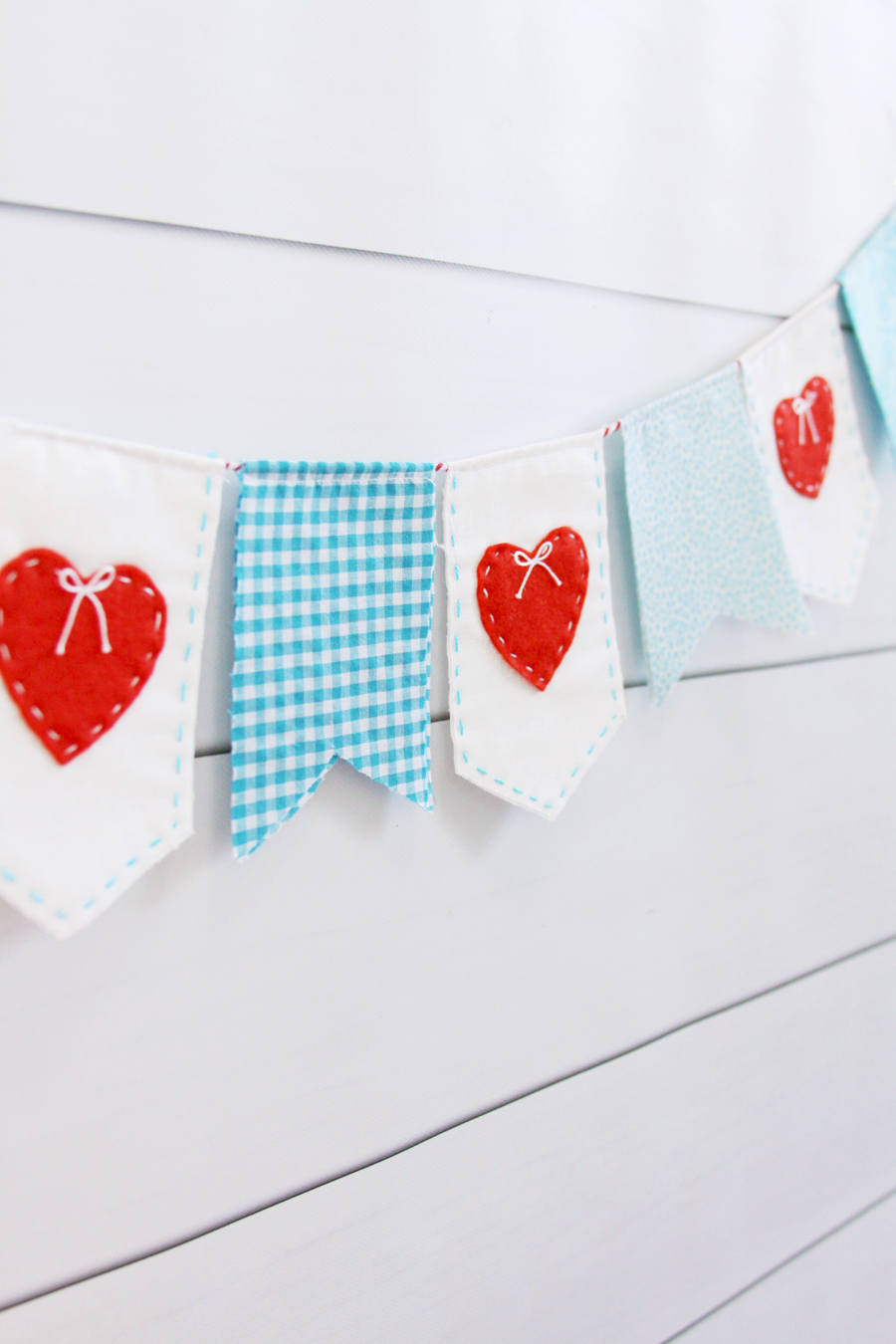 Heart Stitched Pennant