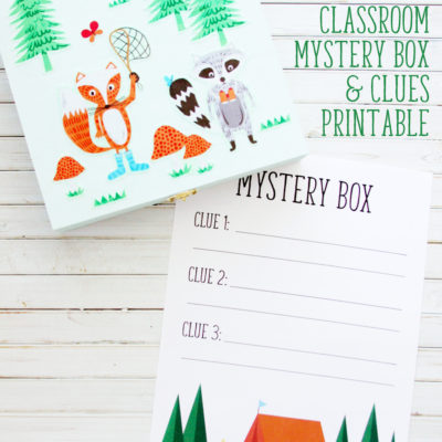 Classroom Mystery Box and Clues Printable