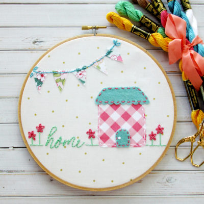 Sweet Home Embroidery Hoop Art