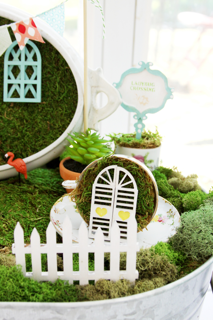 Vintage Style Fairy Garden