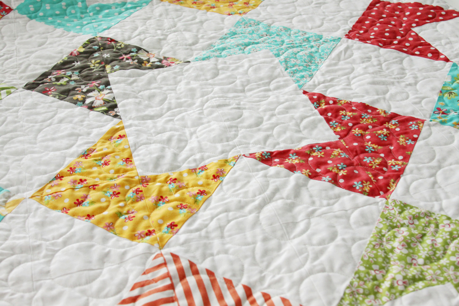 Colorful Half Square Triangle Quilt