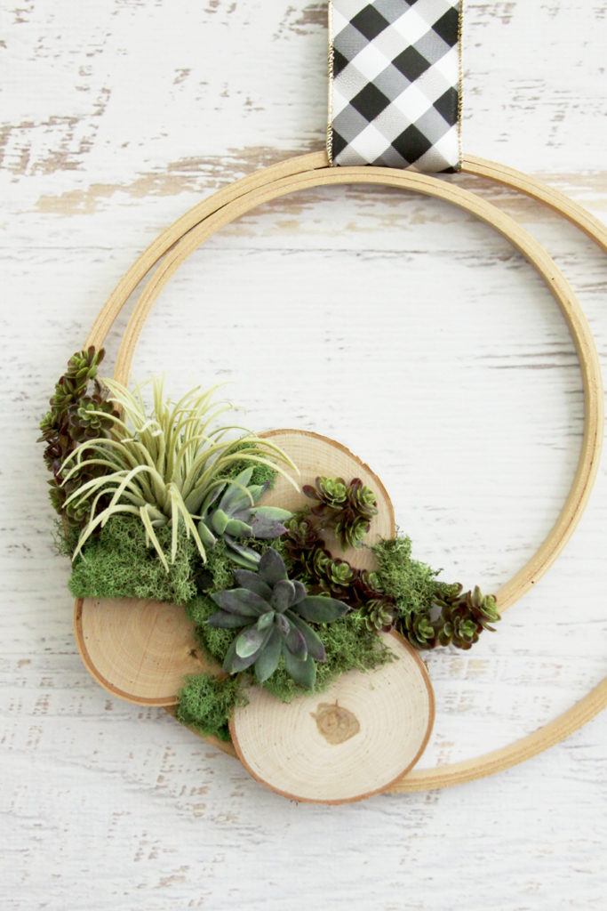 Wooden Hoop Air Plant Wreath
