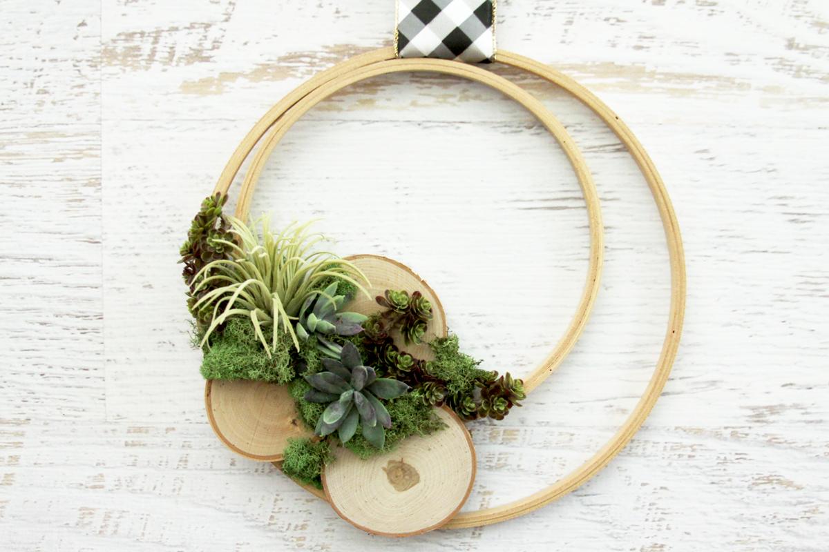 Wooden Hoop Air Plant Wreath
