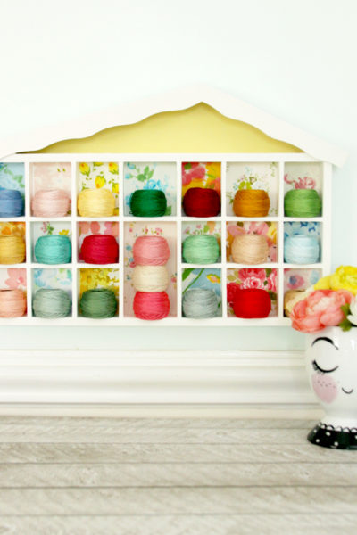 Colorful Embroidery Floss Shadowbox Storage