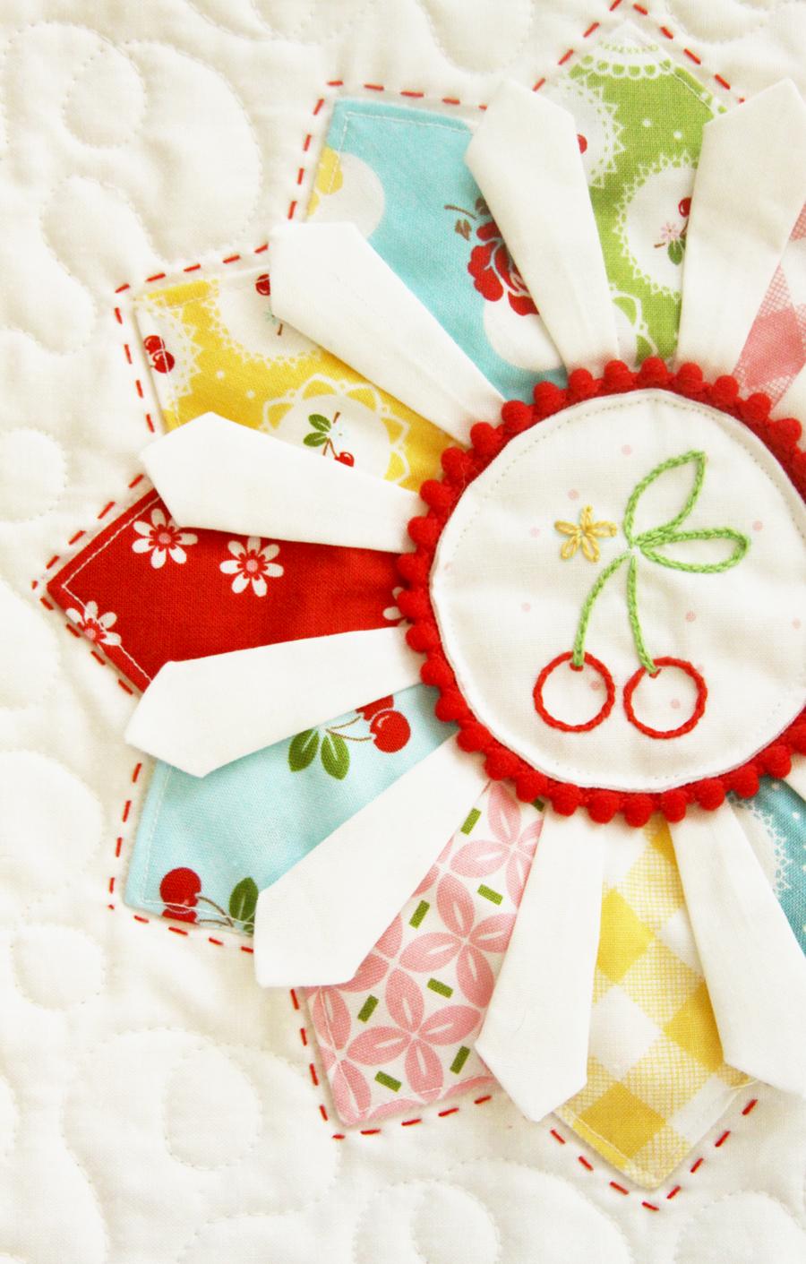 Cherry Dresdens Mini Quilt