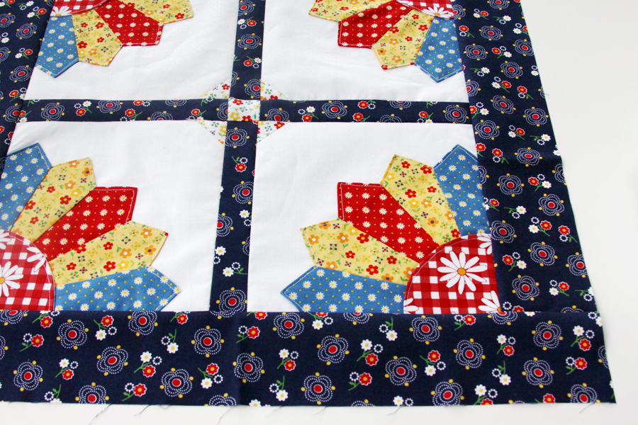 Gingham Girls Dresden Mini Quilt