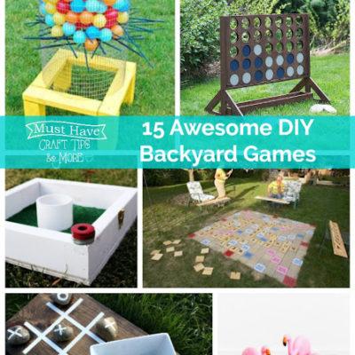 Fun and Easy DIY Backyard Games