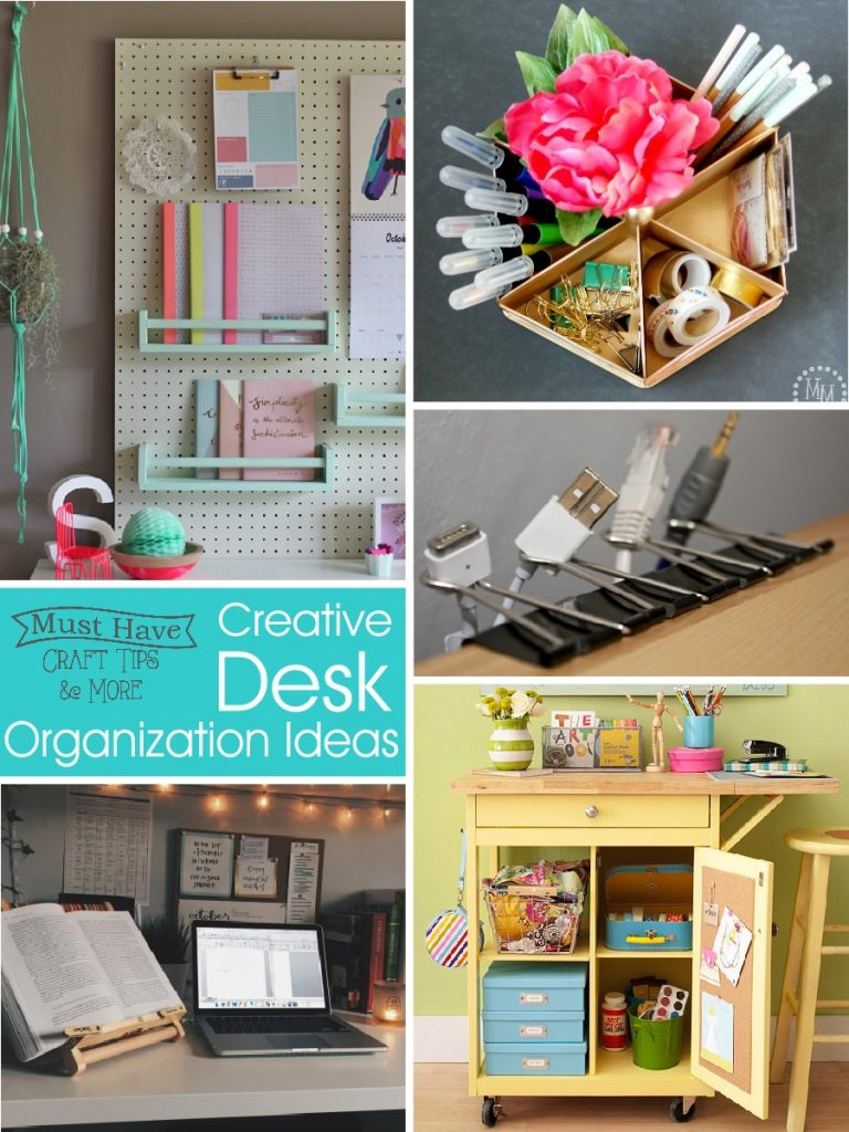creative desk organization tips and ideas