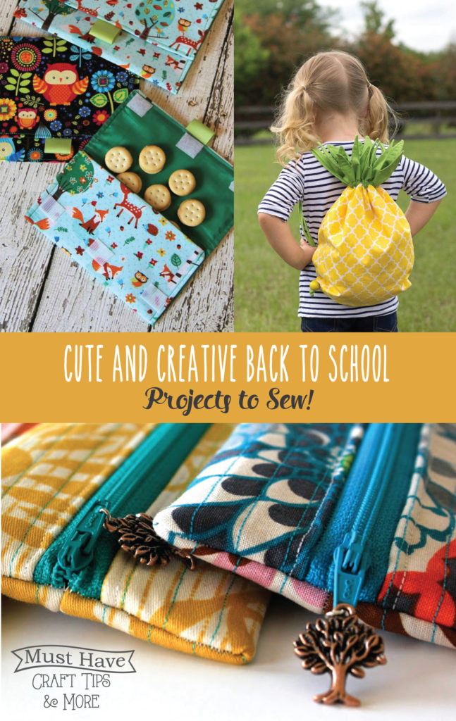 Cute And Creative Back To School Sewing Projects