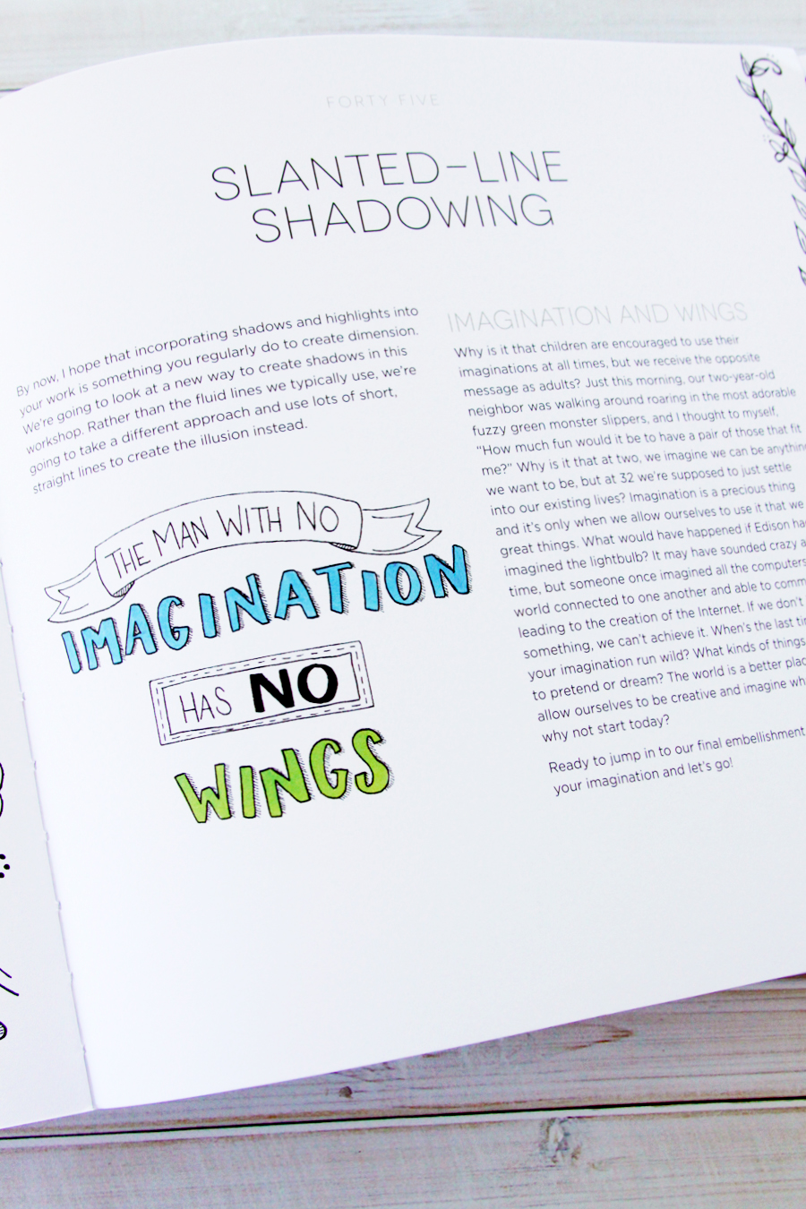 Hand Lettering for Relaxation Workbook -