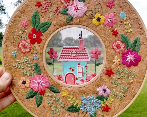 Floral Home Sweet Home Hoop in a Hoop Sett