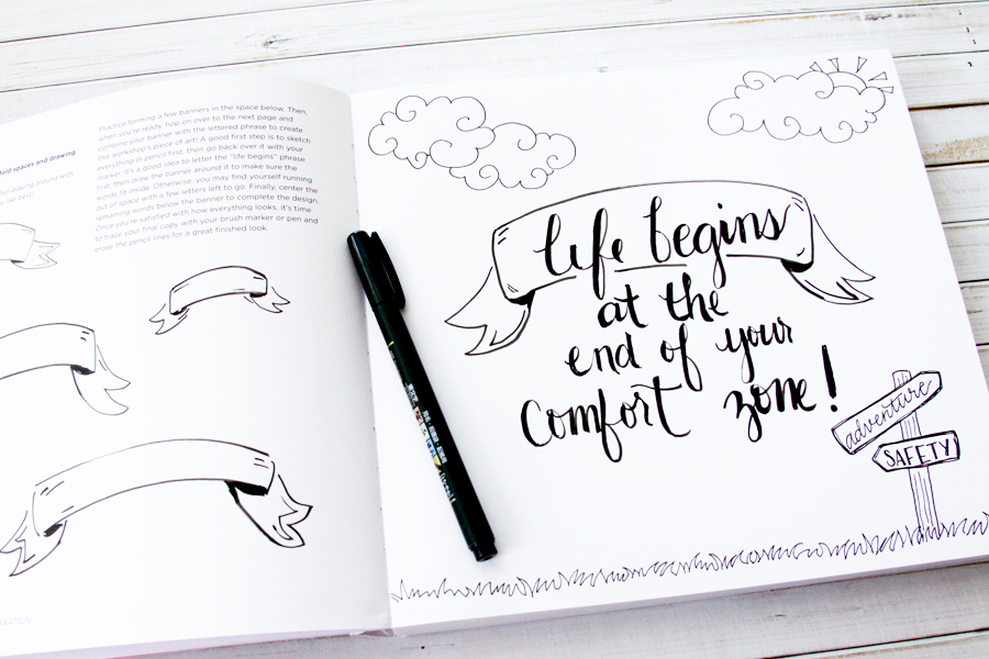 Hand Lettering For Relaxation Workbook And Giveaway