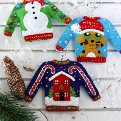 Christmas in July – Ugly Christmas Sweater Ornaments Kit
