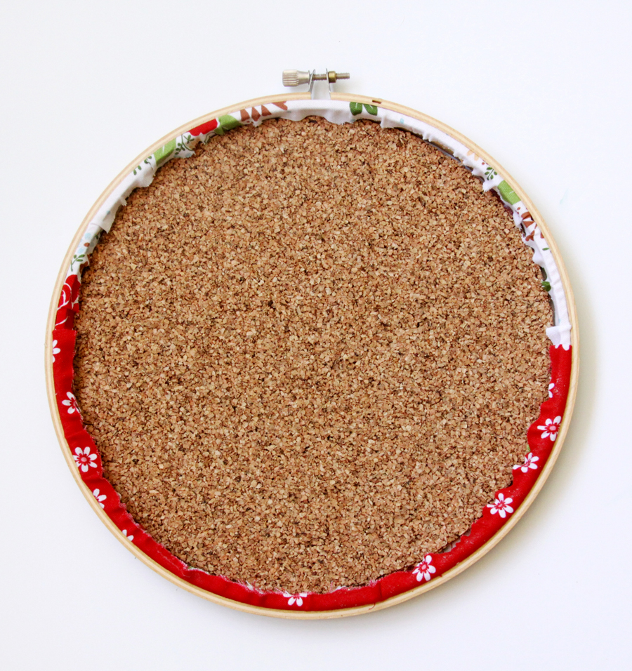 Colorful Cork Organizer Hoop Set