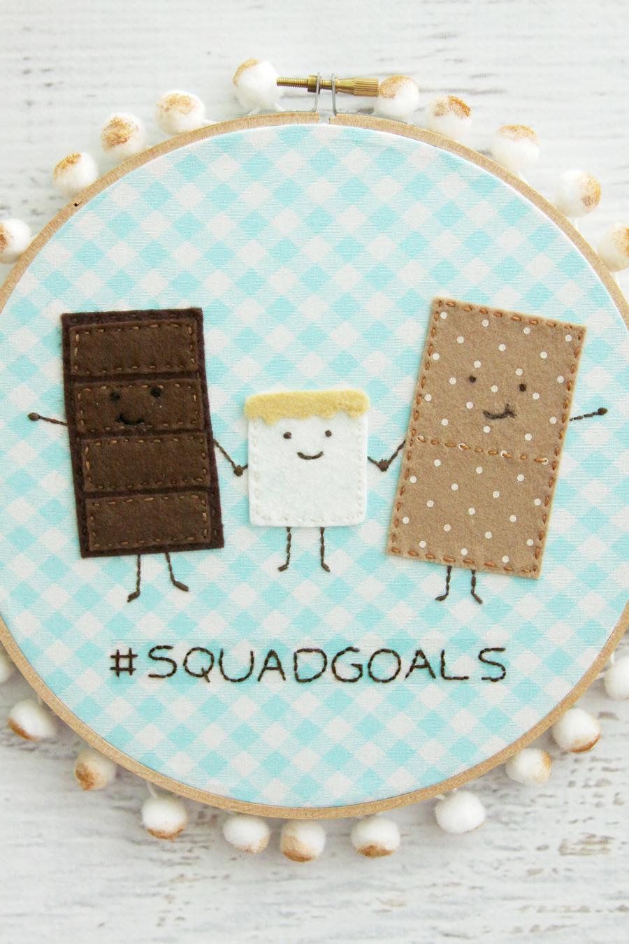 #squadgoals - Summer S'mores Hoop
