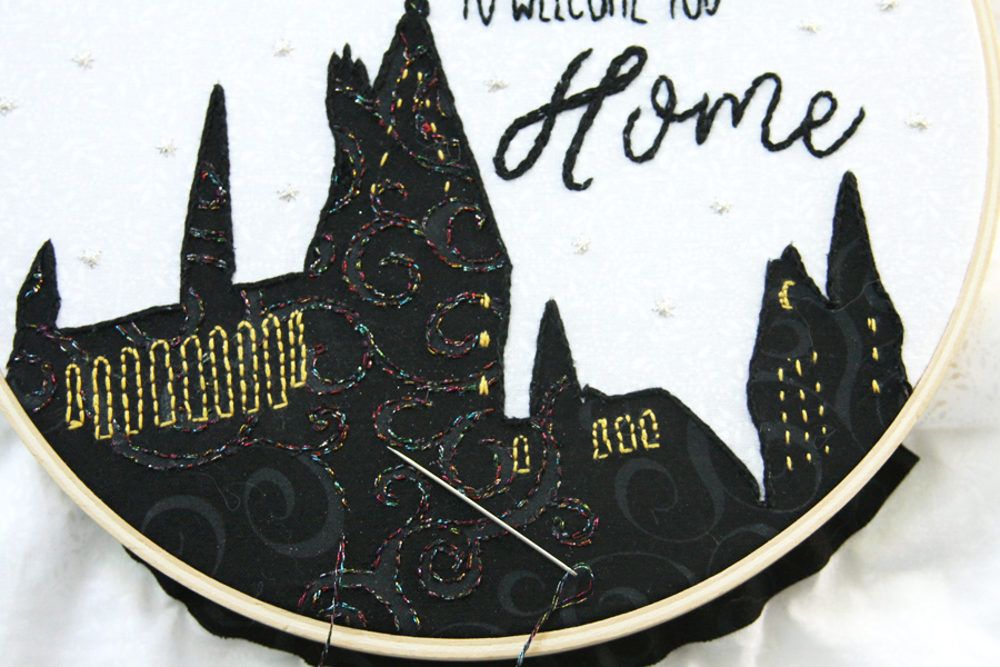 Hogwarts is Home Embroidery Hoop Art