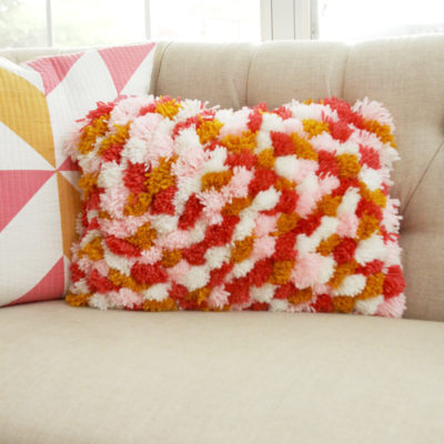 Colorful DIY Pom Pom Pillow