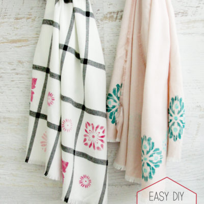 Easy DIY Stenciled Scarves