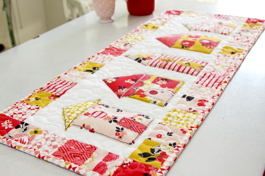 Vintage Daydream Neighborhood Table Runner