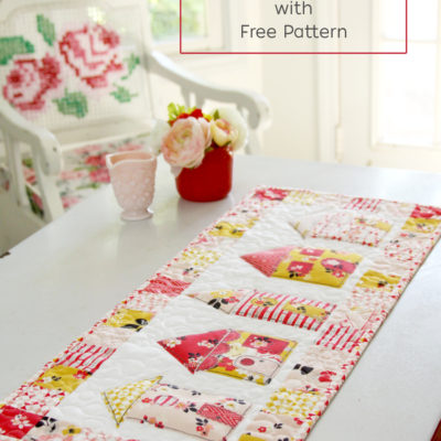 Vintage Daydream Neighborhood Table Runner with Free Pattern