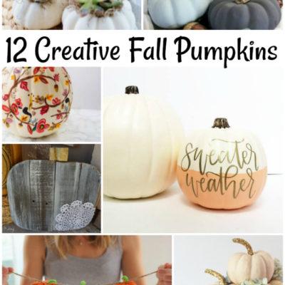 12 Creative Fall Pumpkins