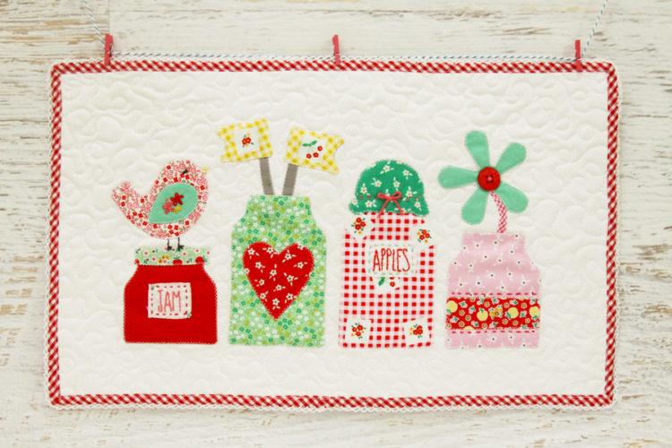 Mason Jars Applique Mini Quilt
