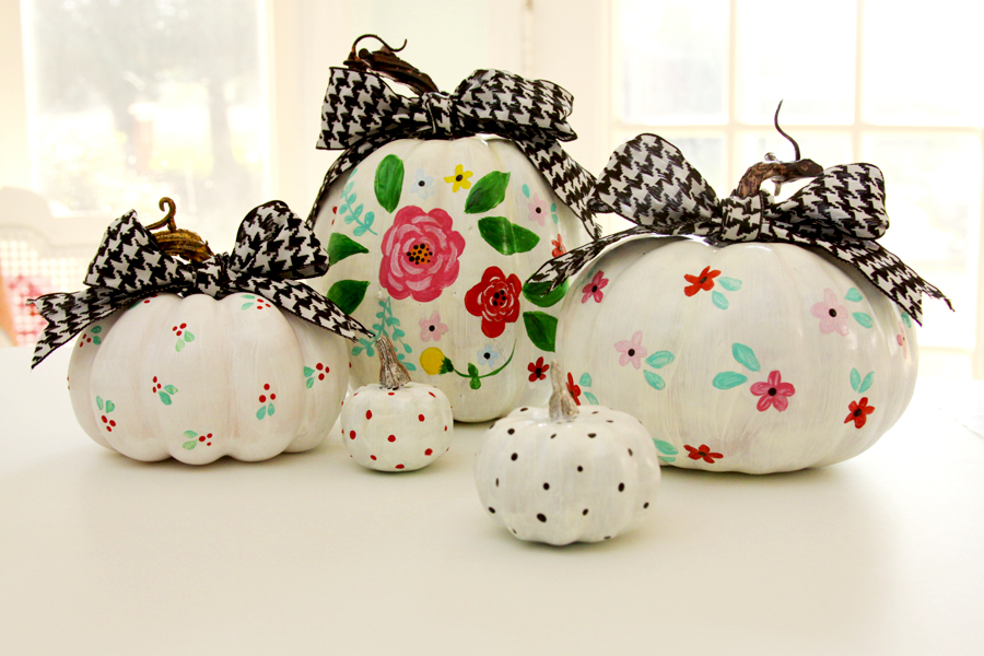 Cute and Colorful Painted Pumpkins
