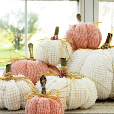 Chenille Fabric Pumpkins