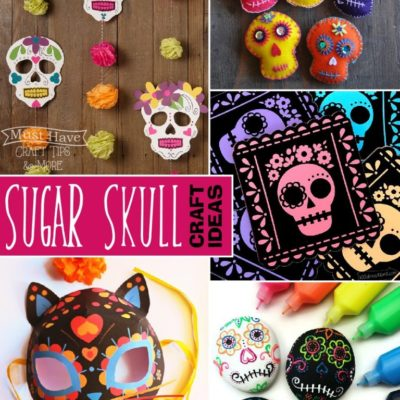 Colorful Sugar Skull Craft Ideas