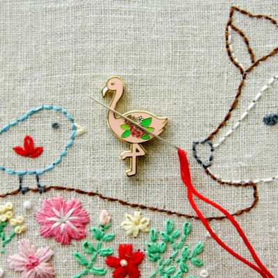 Flossie Flamingo Needle Minder & Embroidered Top Patterns