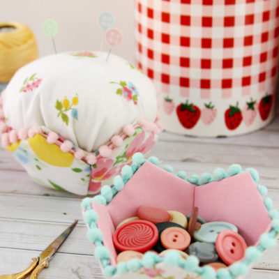 Vintage Sheet Fabriflair Bowl and Pincushion & Giveaway!