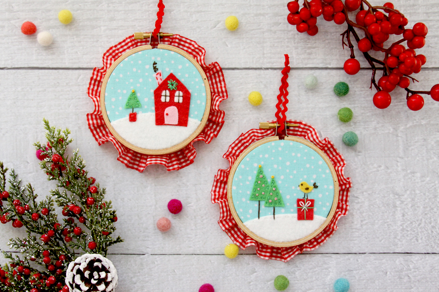 Fabric and Felt Mini Hoops