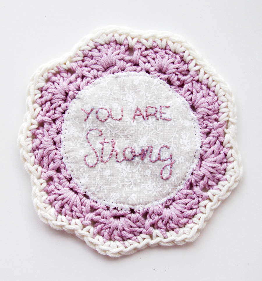 Embroidered Crochet Coasters