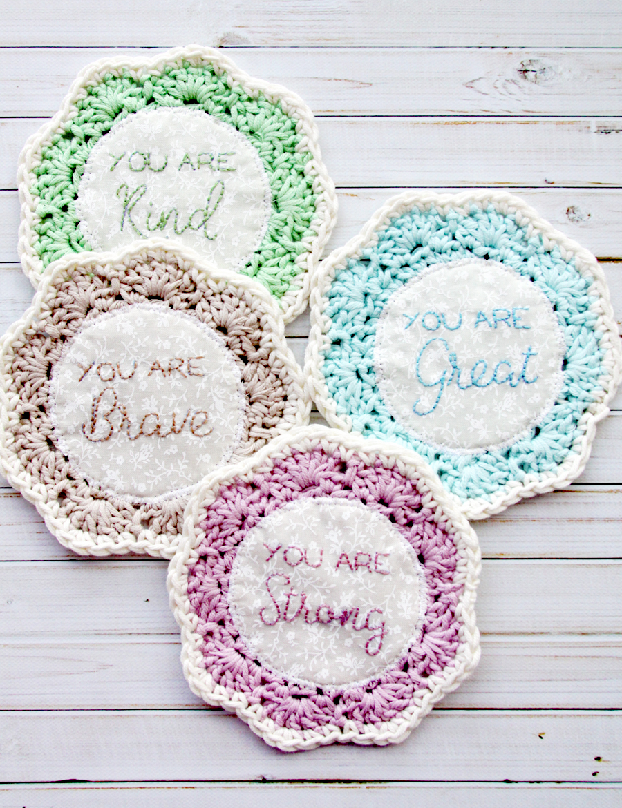 Encouraging Phrases Coasters