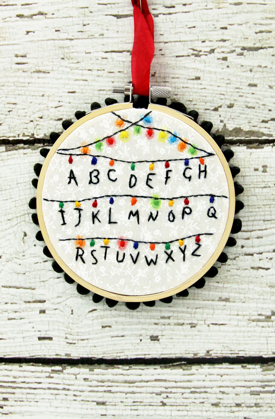 Stranger Things Hoop Ornament