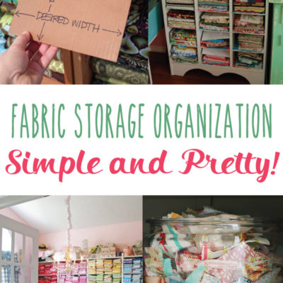 Fabric Storage Organization Ideas