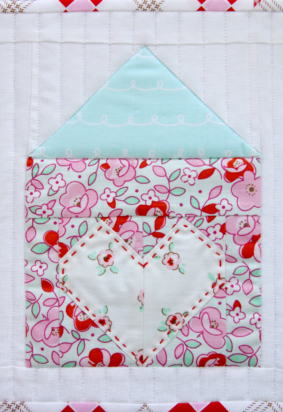 Heart and Home Mug Rug or Mini Quilt